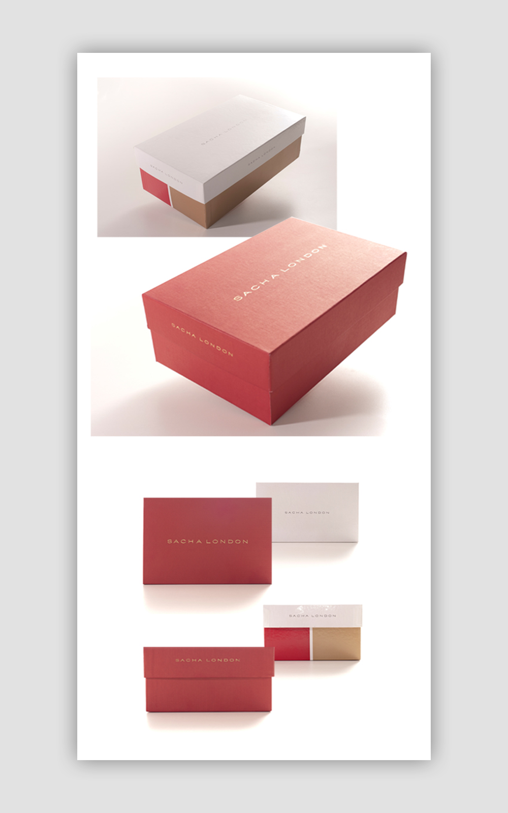 Packaging caja de zapatos